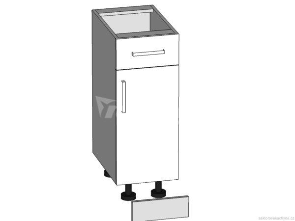 D1S-30/82 dolní skříňka s zásuvkou P/S - L/S kuchyně Tapo