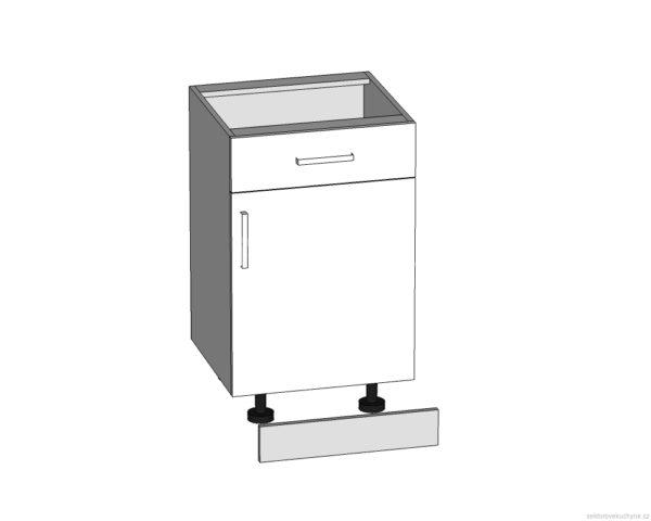 D1S-50/82 dolní skříňka s zásuvkou P/S - L/S kuchyně Tapo
