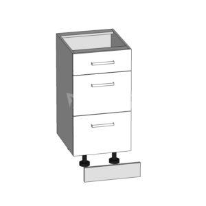 D3S-40/82-2S/S dolní skříňka se zásuvkami kuchyně Tapo