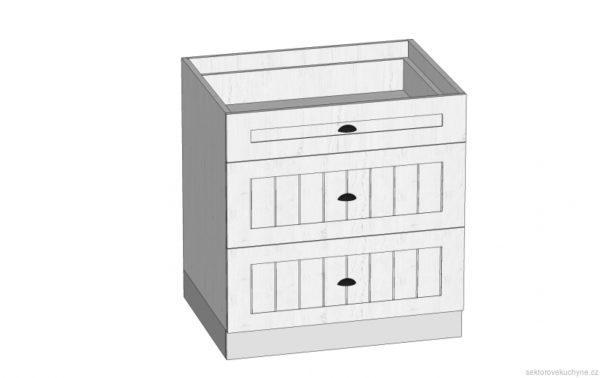 D80S3 dolní skříňka kuchyň Prowansja