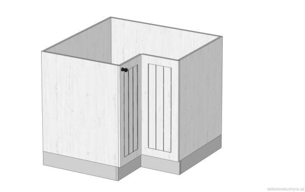 D90N rohová dolní skříňka s košem kuchyň Prowansja