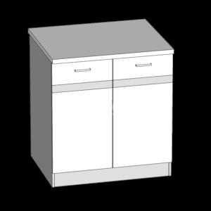 Dolní skříňka 80 kuchyň Eliza (EZ16/D80)