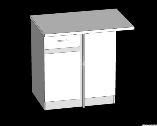 Dolní skříňka rohová LP kuchyň Eliza (EZ18/D100NW)
