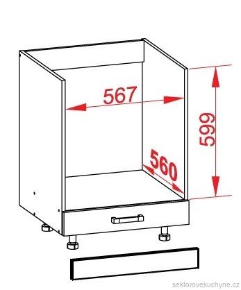 DP-60/82-K dolní skříňka pro vestavné spotřebiče kuchyně Top Line