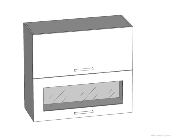 G2O-60/72-OV-O horní skříňka s výklopnými dvířky kuchyně Tapo