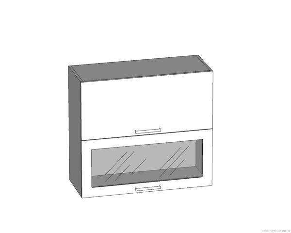 G2O-80/72-OV-O horní skříňka s výklopnými dvířky kuchyně Tapo