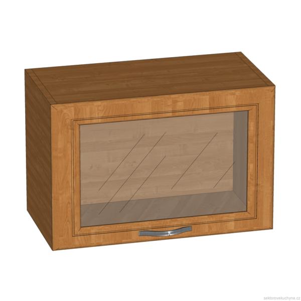 G60KSN horní skříňka se sklem kuchyň Sycylia