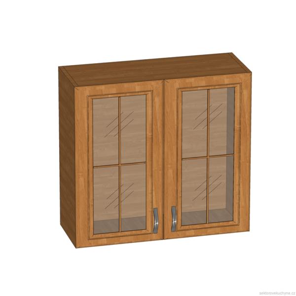 G80S horní skříňka se sklem kuchyň Sycylia