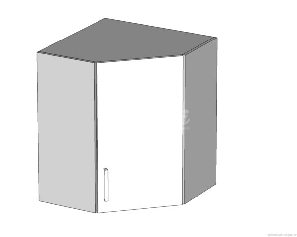 GNWU-60/72 P (L) horní rohová skříňka vnitřní kuchyně Tapo