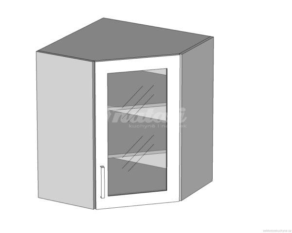 GNWU-60/72 PV (LV) horní rohová skříňka vnitřní kuchyně Tapo