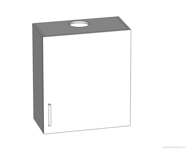 GOO-60/68-P-L horní skříňkas odsavačem par kuchyně Tapo