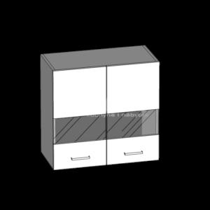 Horní skříňka 60 se sklem kuchyň Eliza (EZ4/G60W)