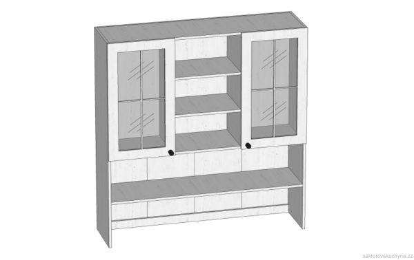 K120 horní skříňka kuchyň Prowansja
