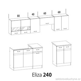 Kuchyňská linka Eliza 240