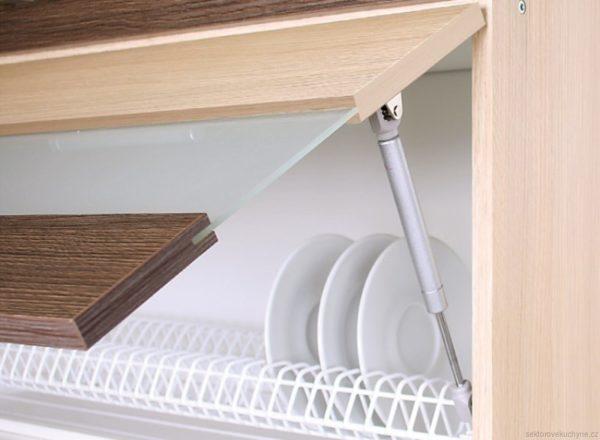 Horní vitrína 80 kuchyň Modena MD9-G80W