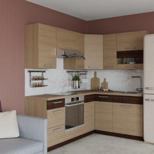 Rohová kuchyňská linka Modena 195x150 cm