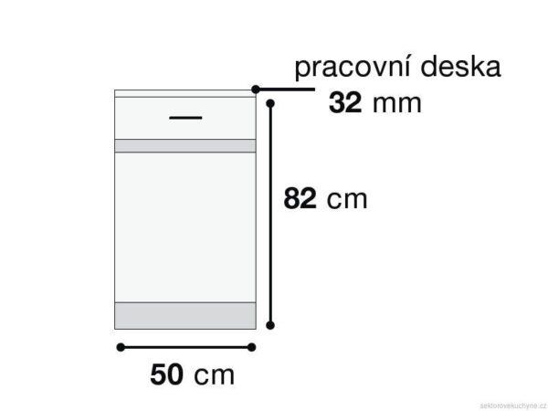 Skříňka D1D/50/82-L kuchyň Junona